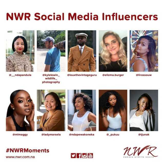 Meet our Social Media Influencers 🙂 #NWRMemories #TravelWithNWR #Namibia #Africa #travelafrica #influencers #travel #tourist #NWR #instatravel #NWRMoments